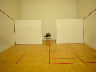 Using A Wooden Portable Backwall In A Racquetball Court
